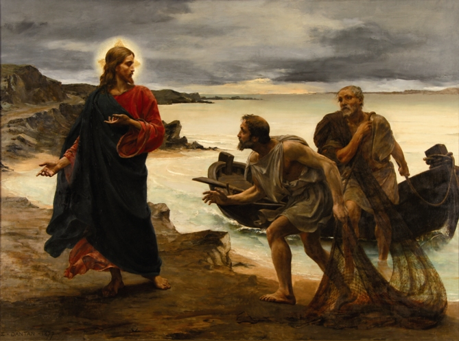 Znalezione obrazy dla zapytania powołanie piotra i andrzeja